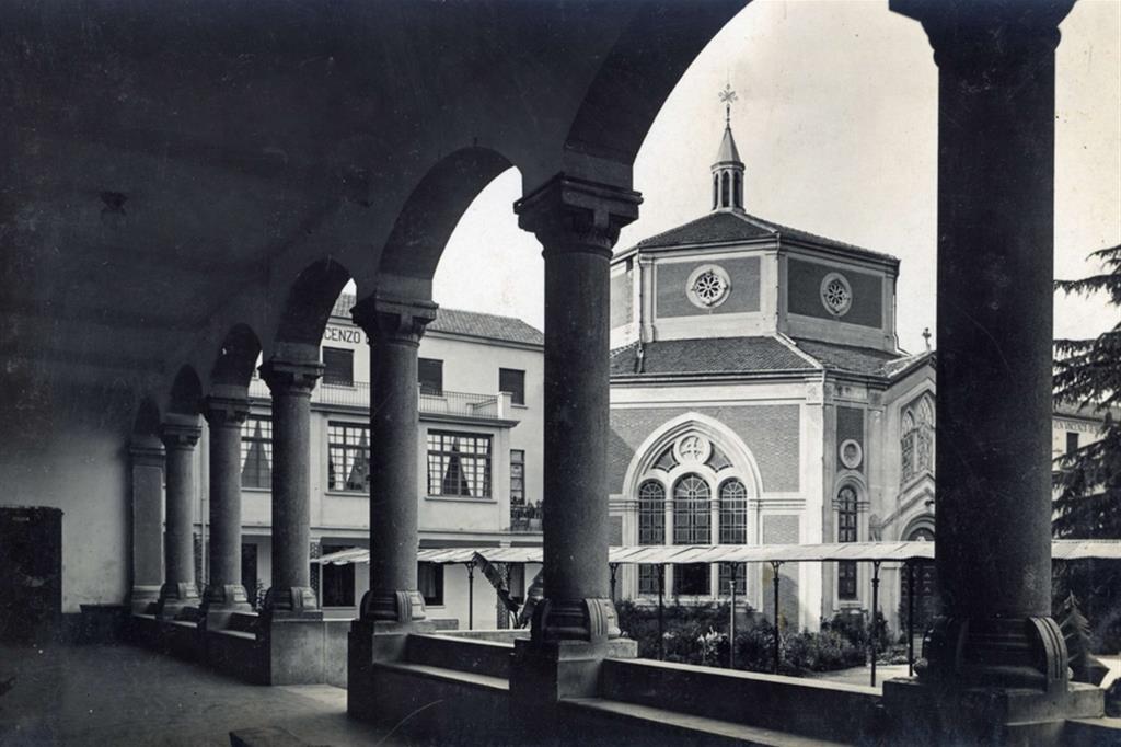 La Chiesa della Sacra Famiglia a Cesano Boscone nel 1910 - Fondazione Sacra Famiglia