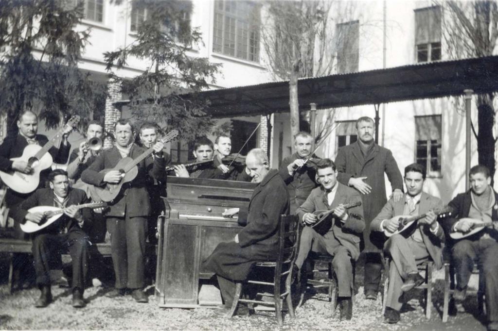 La banda nel 1928 - Fondazione Sacra Famiglia